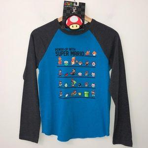 🎁Super Mario t-shirt Large long sleeve free gift